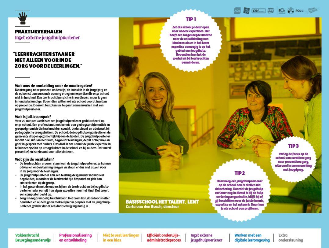 cover praktijkverhalen werkdrukakkoord 1-5